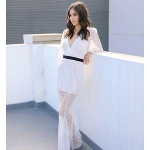 Layla lace maxi dress